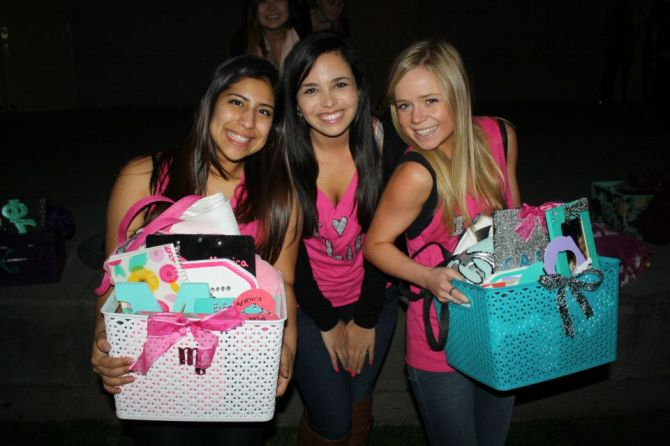 This is my close sorority family! Monica and Cora