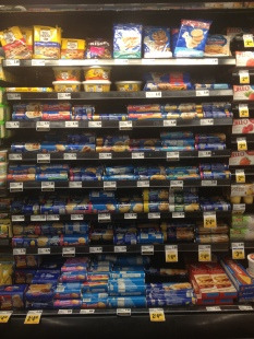 Premade cookie dough section