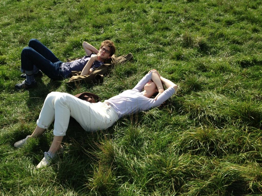 Warm sun in Hamstead Heath park