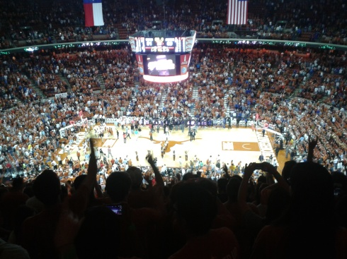 Texas vs Kansas, Longhorn home game Feb 1, 2014. I will truly miss these games.