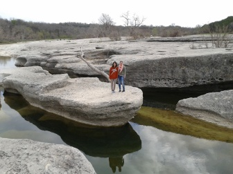 McKinney Falls State Park, on the edge of Austin, about 20 min drive from campus.