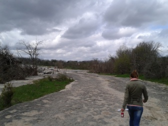 McKinney Falls is a camping ground and has many flat hiking trails. The grey, rocky ground and twisted, bare trees aren't what you would typically describe as pretty, but I loved it. It was just so different. Would be a good location for a horror or thriller film, but it wasn't creepy at all. It was peaceful. And filled with many families/happy campers.