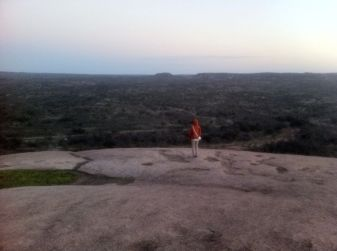 Enchanted Rock didn't look like anything too special at first, but the fact that you can get to such heights without any barriers or restricted access...feels different and definitely feels good!
