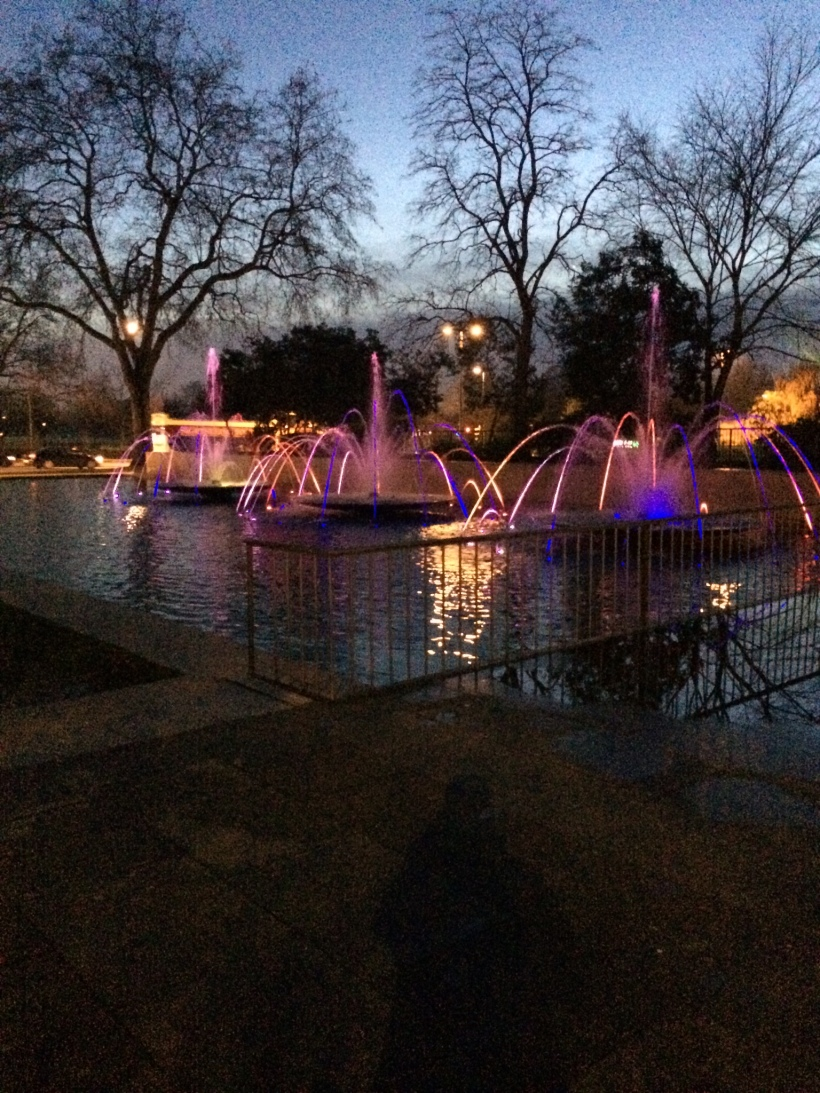 Fountains outside Marble Arch