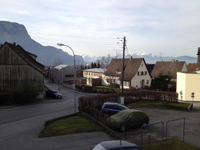 View of Sebastianstraße in Dornbirn, Austria