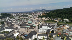 Panoramic view of Salzburg from the Fortress