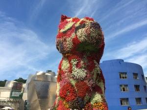 Bilbao - the Guggenheim Museum and Jeff Koons flower puppy!