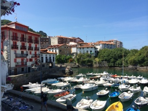 Hired a motorbike and rode through the Spanish Pyrenees and along the Basque coast, encountering beautiful fishing villages along the way.
