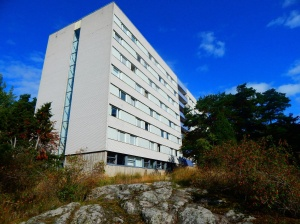 One of the buildings of the student housing in Flogsta