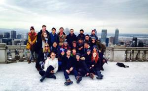 A group snap from a trip to Montreal