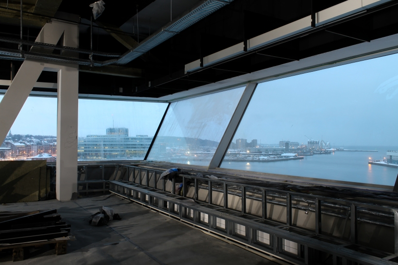 Aarhus Harbour from Dokk1 (Under Construction)