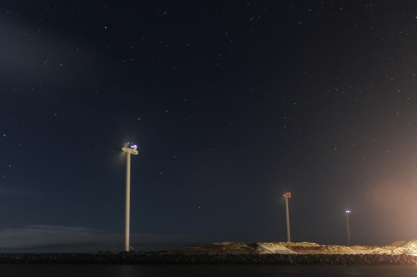 Beach Windmills in Hvide Sande.
