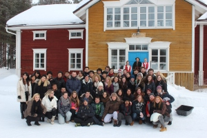 The first group that went to Finland. I'm the brown guy, front row