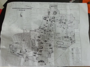 Map of South Campus