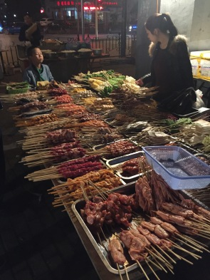 Street food vendors at night - what's for dinner?