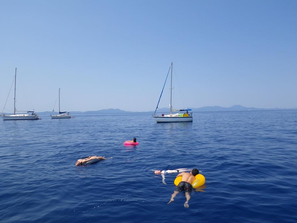 Lazy day floating around somewhere in Greece #yachtlife
