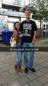 I didn't even make shoulder height.