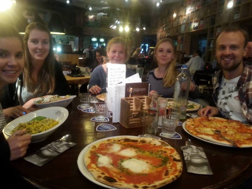 Dinner at Happy Italy - a really yummy, cheap Italian place in town