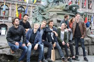 Some of the boys on a trip to Antwerp