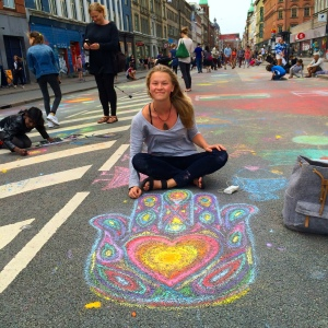 Making my art on the street