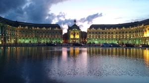 Place de la bourse, popular spot for students to picnic and party at