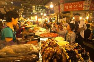 Group visit to a popular Korean Food Market