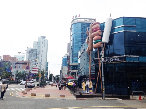 Just a regular street in downtown Haeundae, Busan.