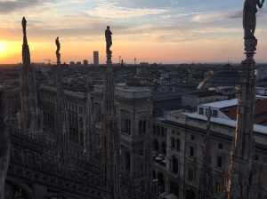 View of Milan from the Duomo