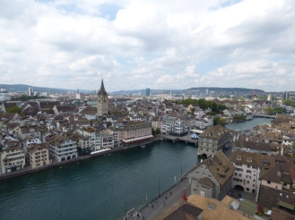 Zurich from the Grossmunster tower