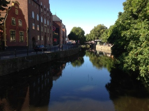 Fyris river, which divides Uppsala in half.