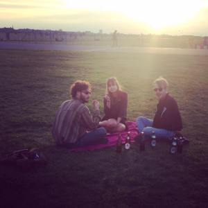 This is my housemates hanging in tempelhof just next to my first Beautiful apartment in Neukolln