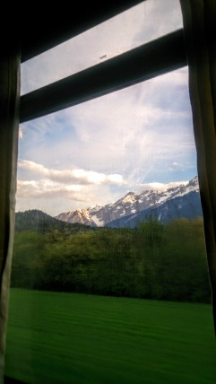 mountains outside window