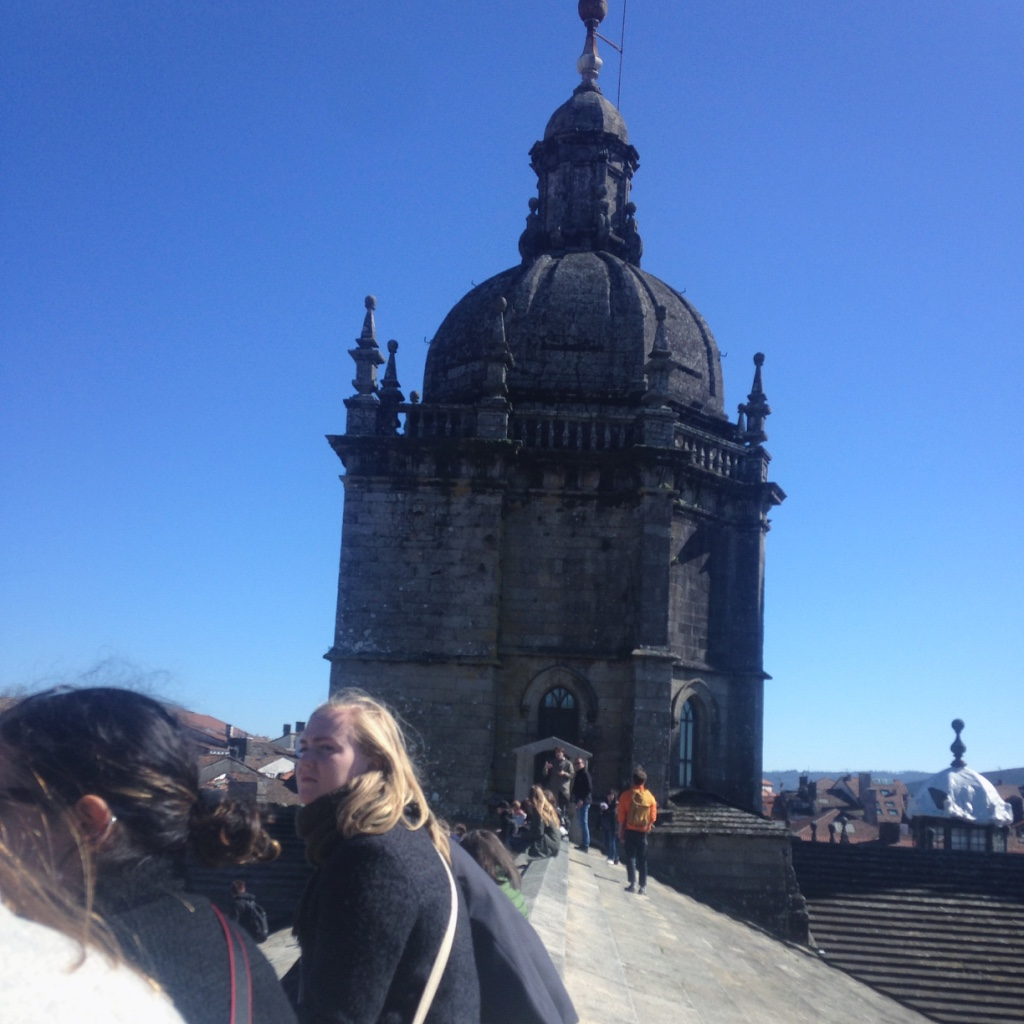 Climbing to the top of a cathedral in Santiago de Compostela to sketch in the sun will be one of my fondest memories.