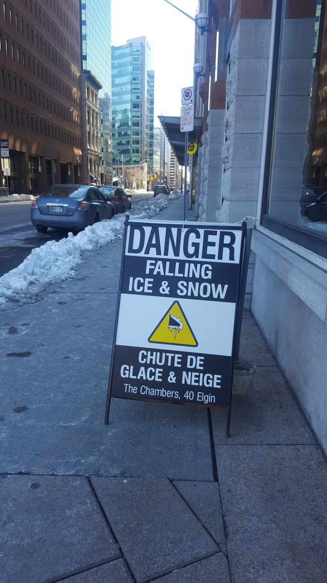 3 Falling ice sign
