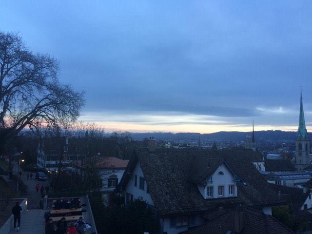 Sunset at UZH