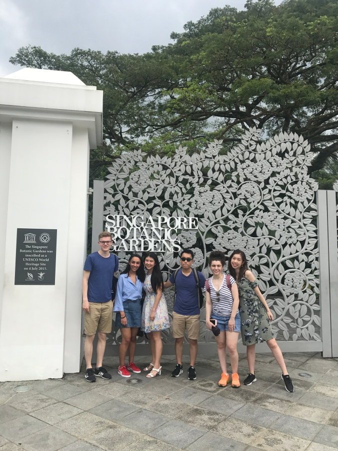 Visiting Singapore Botanic Garden with Friends