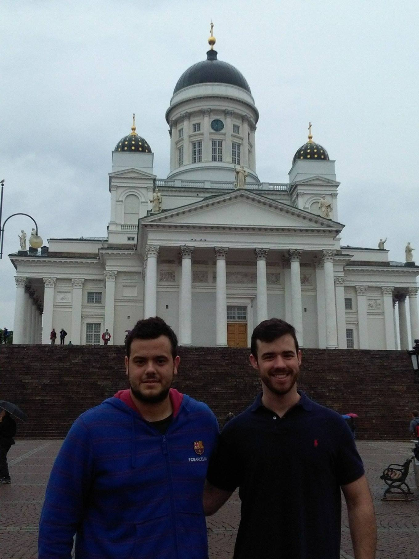 me and my mate Ramiro at Helsinki cathedral